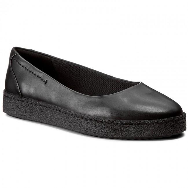 b03de036e37b2 Shoes CLARKS - Lillia Petal 261272664 Black Leather - Flats - Low ...