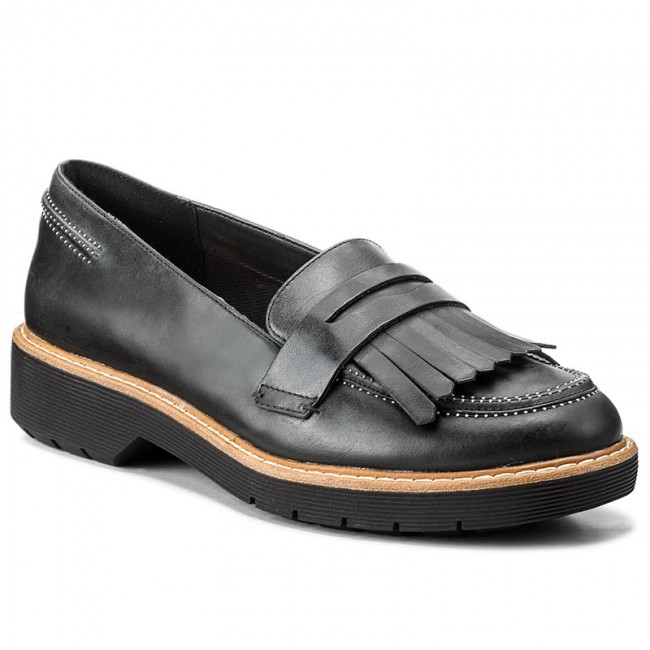 Shoes CLARKS  Witcombe Dawn 261272954 Black Nubuck  Heels  Low shoes  Womens shoes       0000199542084