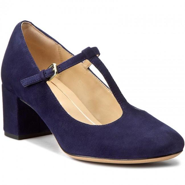 c0bb3d65667c Shoes CLARKS - Orabella Fern 261282414 Navy Suede - Heels - Low ...