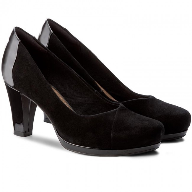 Shoes CLARKS Chorus Carol 261288194 Black Combi