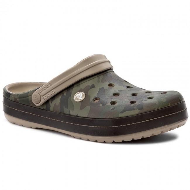 0f08629f91f5a7 Slides CROCS - Crocband Camo II Clog 204091 Tumbleweed - Clogs and ...