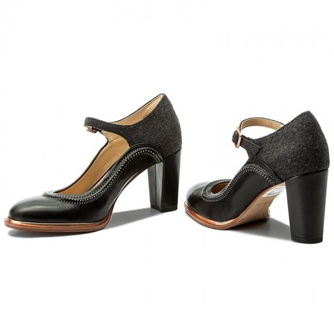 41eb32676e6e93 Shoes CLARKS - Ellis Mae 261291884 Black Combi - Heels - Low shoes ...