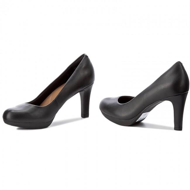 14d1a658048d Shoes CLARKS - Adriel Viola 261293594 Black Leather - Heels - Low ...