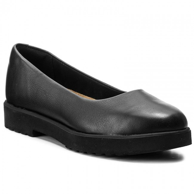 Shoes CLARKS Bellevue Park 261294134 Black Leather
