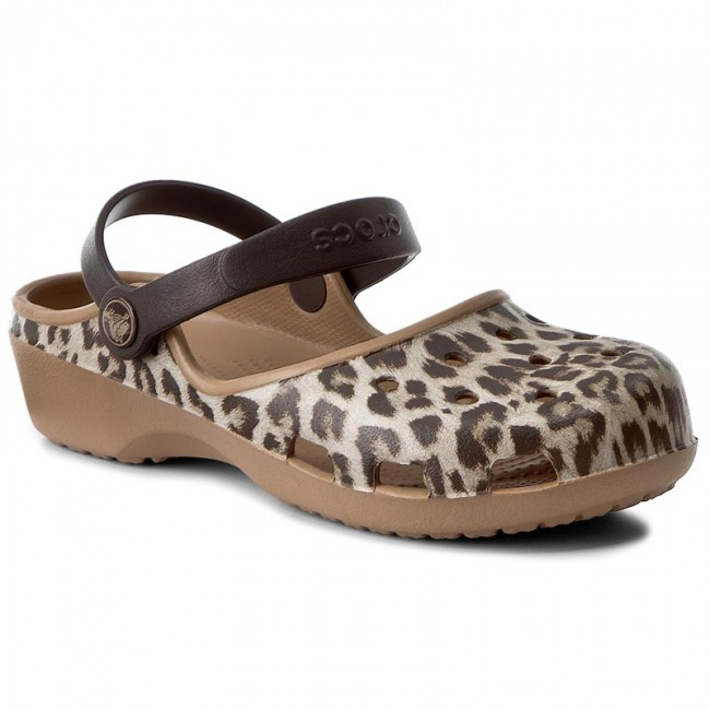 Slides CROCS  Karin Graphic 204235 Leopard  Casual mules  Mules  Mules and sandals  Womens shoes       0000199558283