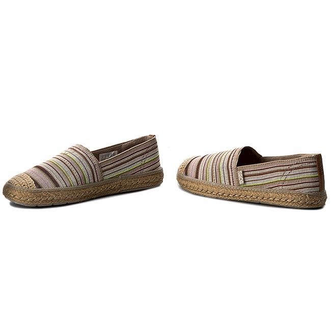 Espadrilles SKECHERS - BOBS Cabana Party 34253 NTMT Nat Multi ... 14ec7e2098