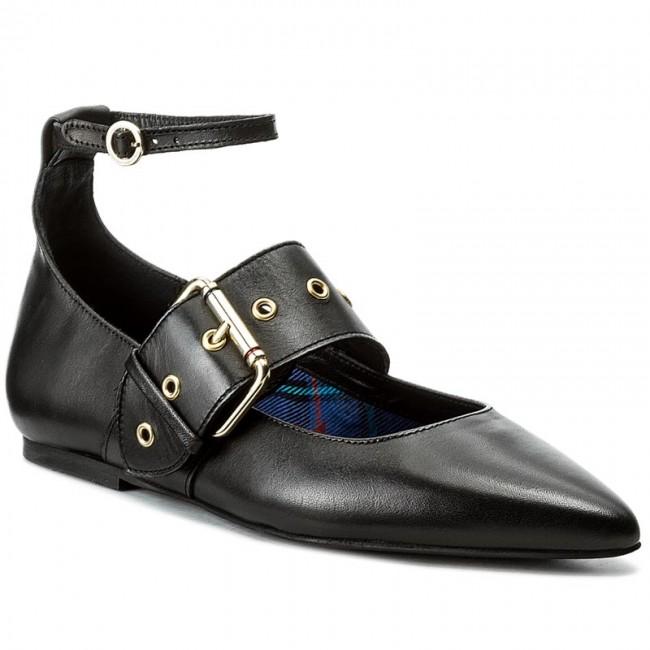 d3f9cd695e1ee1 Shoes TOMMY HILFIGER - Gigi Hadid Pointy Ballerina FW0FW02201 Black ...