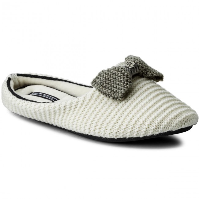 a7dfbff5de560 Slippers TOMMY HILFIGER - Orion 2D FW0FW01963 Whisper White 121 ...