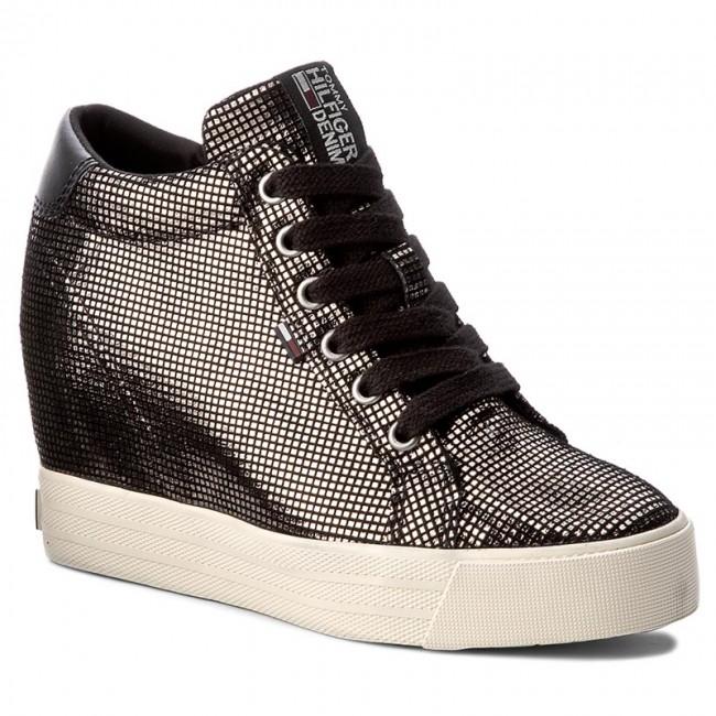 b31ee2aa Sneakers TOMMY HILFIGER - DENIM Nice Wedge 5Z2 FW0FW01772 Dark Silver 042