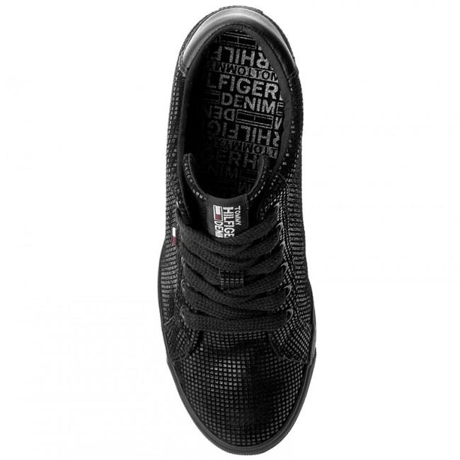 1d8d912c Sneakers TOMMY HILFIGER - DENIM Nice Wedge 5Z2 FW0FW01772 Black 990 -  Sneakers - Low shoes - Women's shoes - www.efootwear.eu