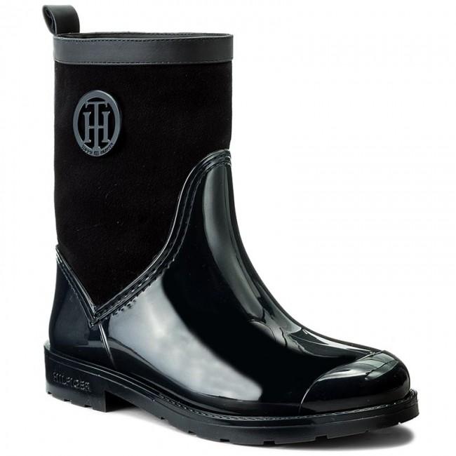 Tommy Hilfiger RAIN BOOT - Wellies - black yMkLBJ