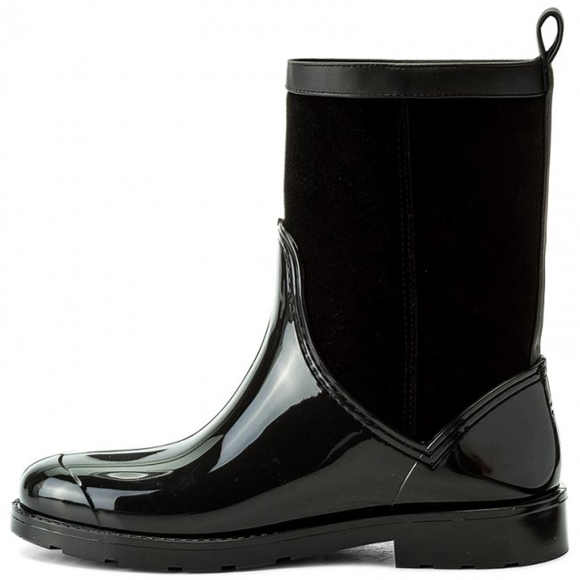 12f008ca154e Wellingtons TOMMY HILFIGER - Oxford 8RW FW0FW01816 Black 990 - Wellingtons  - High boots and others - Women s shoes - www.efootwear.eu