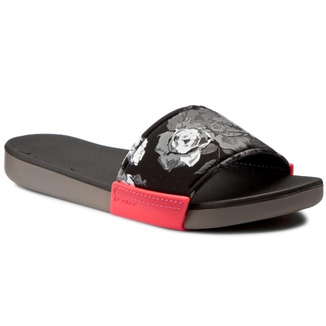 e6ff4917e15bc2 Slides RIDER - Rx Slide Fem 82135 Grey Black Pink - Casual mules ...