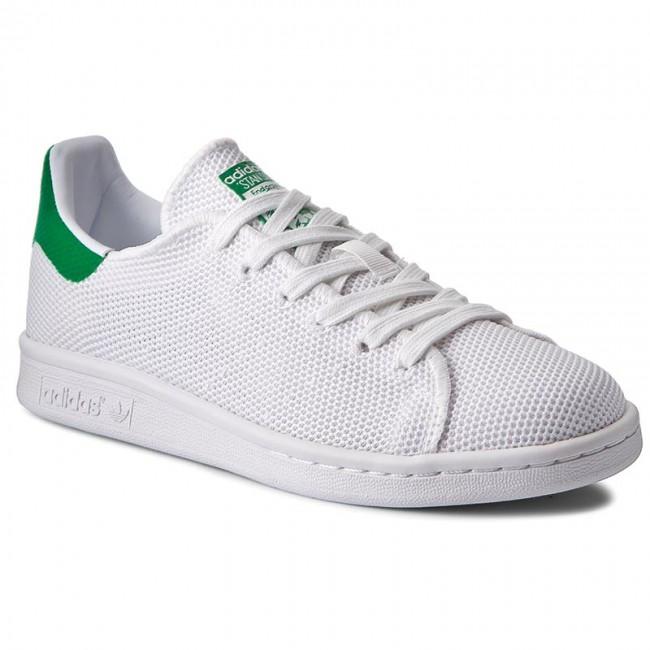 schuhe adidas stan smith bb0065 ftwwht / ftwwht / grüne turnschuhe