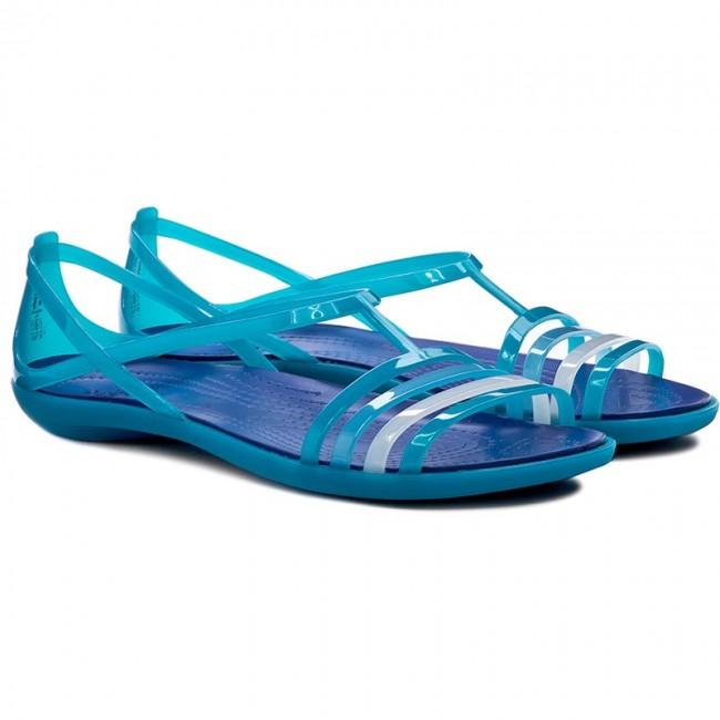 0016e6fed8cc Sandals CROCS - Isabella Sandal W 202465 Turquoise Cerulean Blue - Casual  sandals - Sandals - Mules and sandals - Women s shoes - www.efootwear.eu