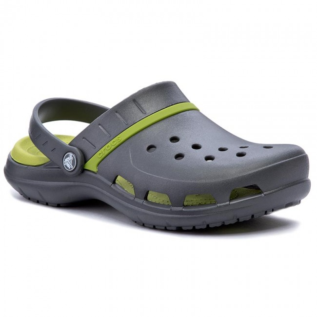 59de7fe88a31ff Slides CROCS - Modi Sport Clog 204143 Graphite Volt Green - Clogs ...