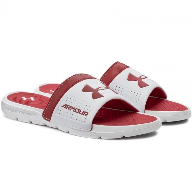61c45131406d Slides UNDER ARMOUR - Ua M Playmaker VI Sl 1287323-106 Wht Red Blk - Clogs  and mules - Mules and sandals - Men s shoes - www.efootwear.eu