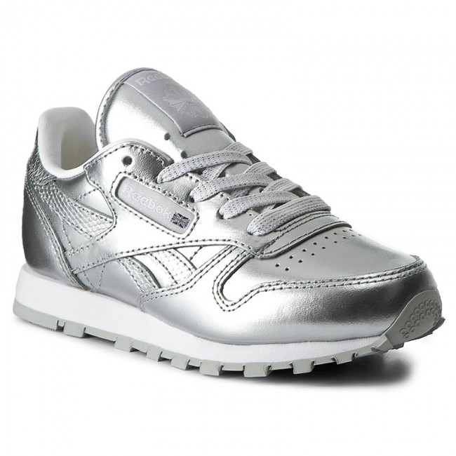 53ae3ebe03b Shoes Reebok - Classic Leather Metallic BS7459 Silver White - Laced ...