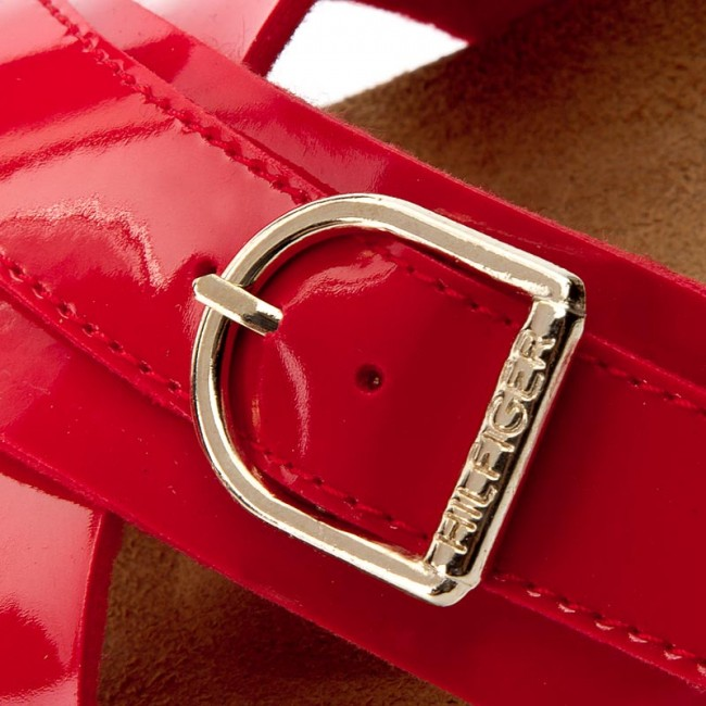 Slides TOMMY HILFIGER - De Sm Lena 1D FW0FW01564 Tango Red 611 ... e1eac0f0e47