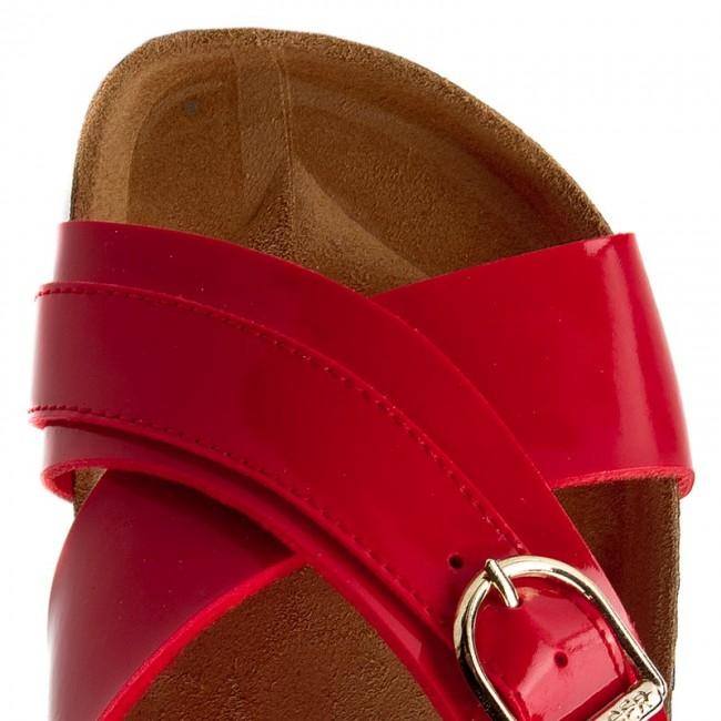 Slides TOMMY HILFIGER - De Sm Lena 1D FW0FW01564 Tango Red 611 - Casual  mules - Mules - Mules and sandals - Women s shoes - www.efootwear.eu 5e7828d04f2