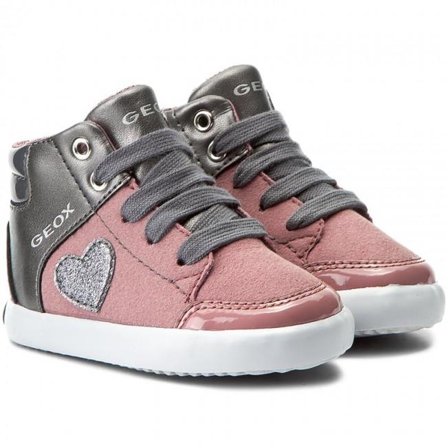 Sneakers GEOX B Gisli G. A B741MA 0AUAJ C8F9F Dk PinkDk Grey GY6St