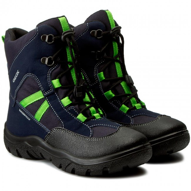 Snow Boots GEOX J Clady B.B Wpf B J745MB 050FU C0749 NavyLime