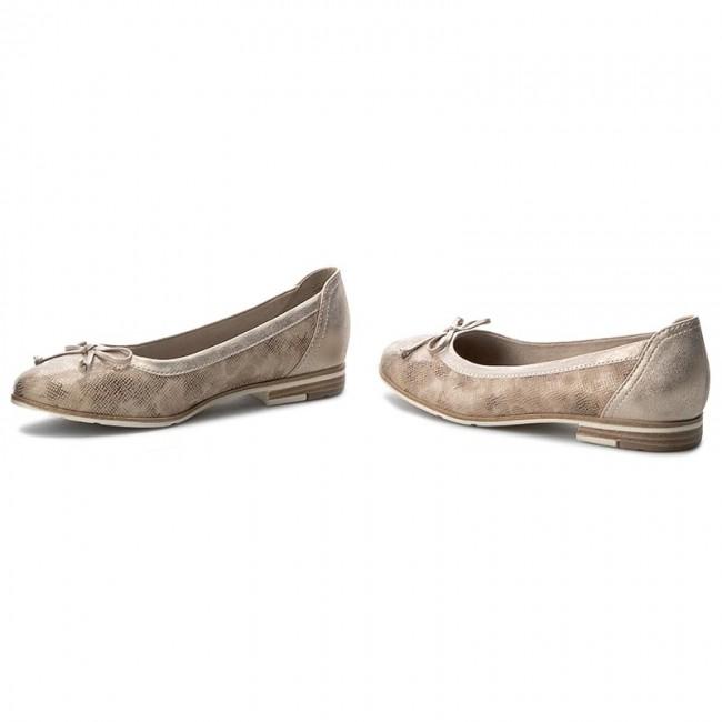 Flats MARCO TOZZI - 2-22108-28 Cream Multi 445 - Ballerina shoes ... 78d9c6f2a9