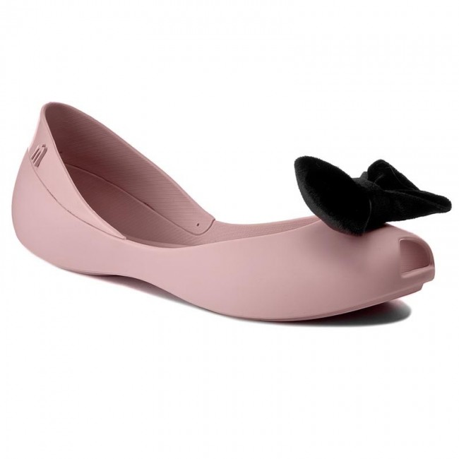 Flats MELISSA  Queen VII Ad 31980 PinkBlack 51647   Ballerina shoes  Low shoes  Womens shoes       0000199690549