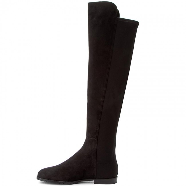 04125e9b3b1 Over-Knee Boots STUART WEITZMAN - Corley Black Suede - Musketeer - High  boots and others - Women s shoes - www.efootwear.eu