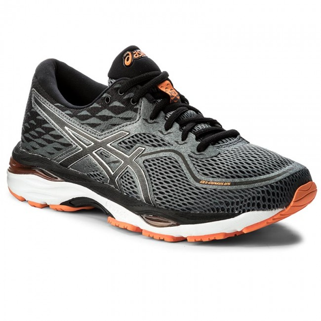Scarpe ASICS - Gel-Cumulus 19 T7B3N Carbon/Black/Hot Orange 9790