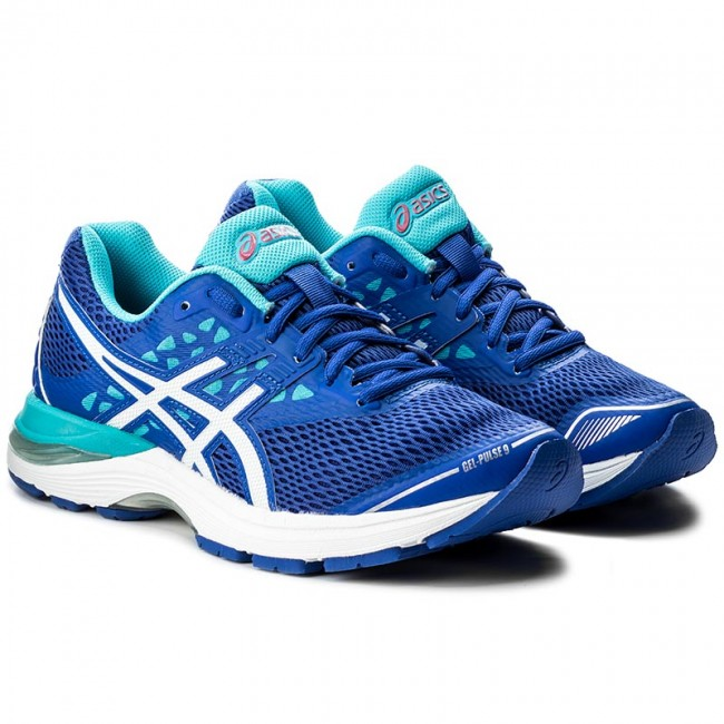 Shoes ASICS - Gel-Pulse 9 T7D8N Blue Purple White Aquarium 4801 - Indoor -  Running shoes - Sports shoes - Women s shoes - www.efootwear.eu 7893131f31
