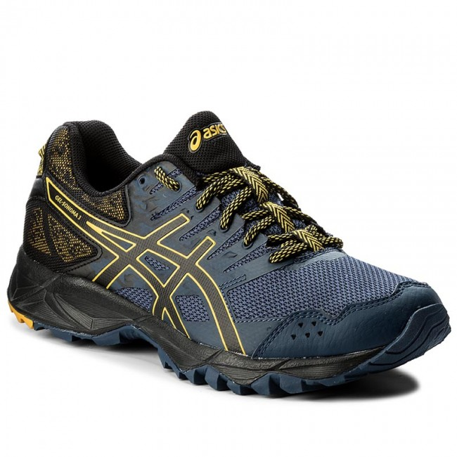 asics blue and gold