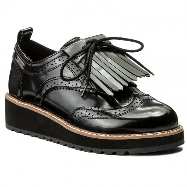 67cc58eec3a93 Oxfords PEPE JEANS - Ramsy Tassel PLS10327 Black 999 - Oxfords - Low ...
