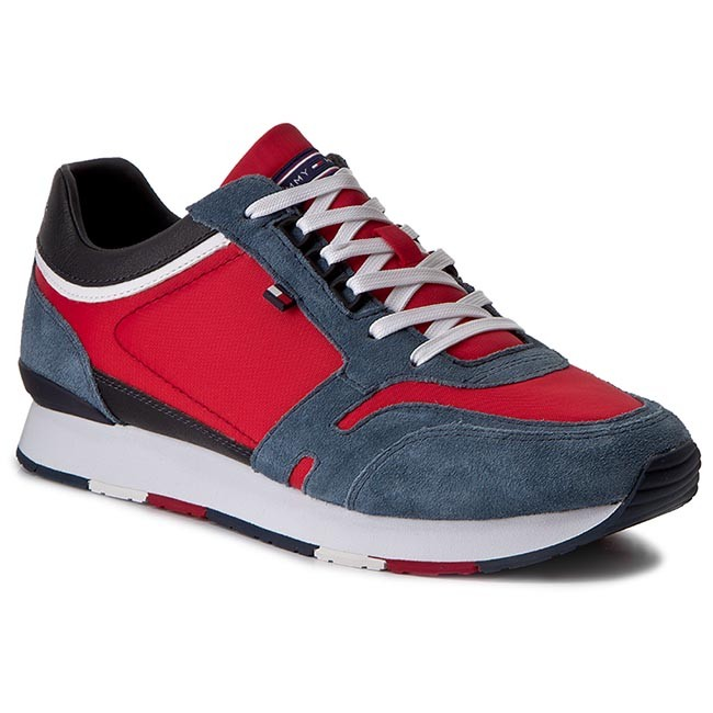 Sneakers TOMMY HILFIGER - Leeds 1 C1 FM0FM00962 Jeans/Tango Red 901