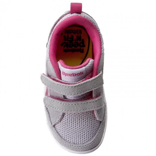 Shoes Reebok - Ventureflex Chase II BS5580 Cloud Grey Pink White - Velcro -  Low shoes - Girl - Kids  shoes - www.efootwear.eu 64719439a