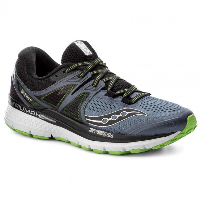 shoes saucony - triumph iso 3 s20346-4 gry/blk/slm - indoor