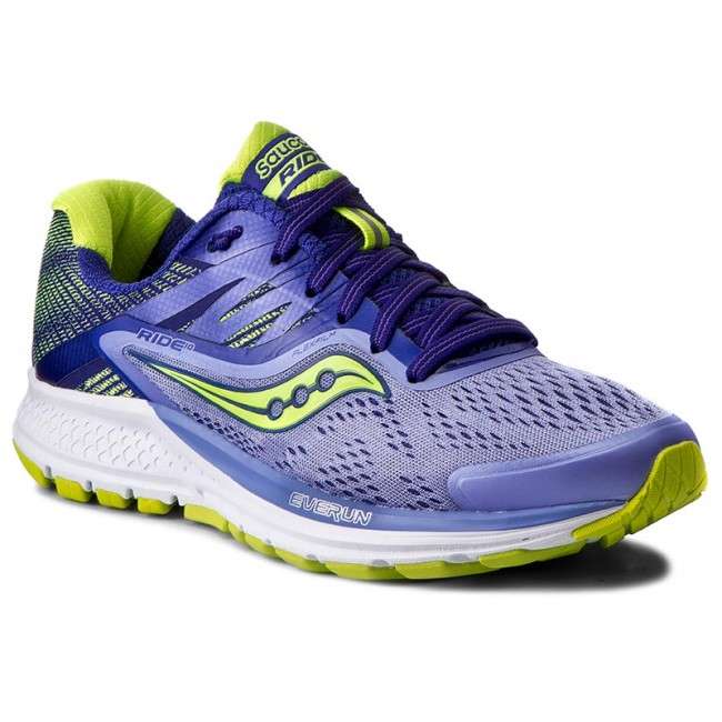 Shoes SAUCONY  Ride 10 S103731 PurBluCtn  Indoor  Running shoes  Sports shoes  Womens shoes       0000199764110