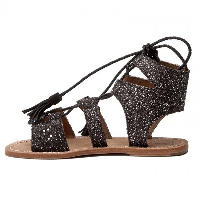 Sandalen PEPE JEANS - Malibu Glitter PLS90241 Black 999 Pv6S29Z