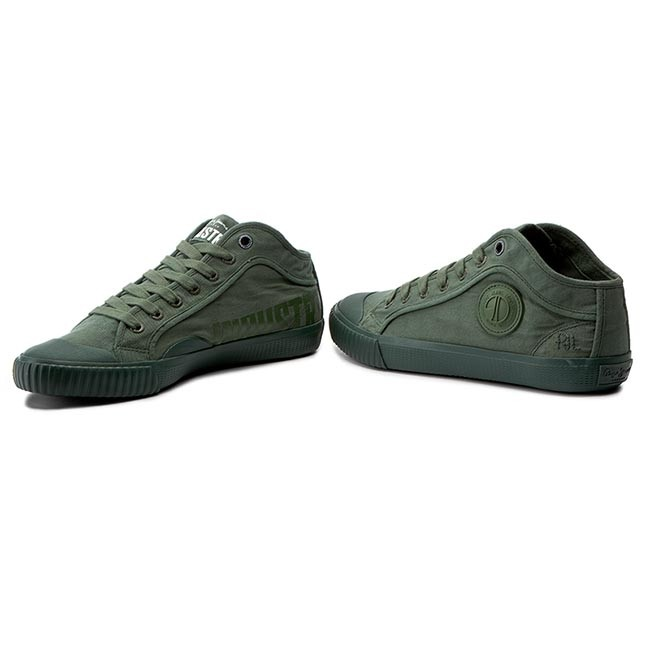 d8dc93e11edeb Sneakers PEPE JEANS - Industry Routes PMS30336 Iron 861 - Plimsolls ...