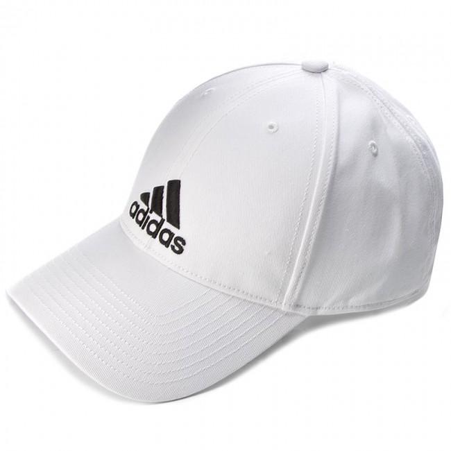Cap adidas - 6P Cap Cotton S98150 White White Black - Men s - Hats ... b491e744959