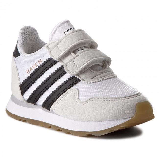 adidas Haven CF I white / black Kids Running shoes Low