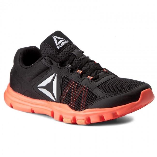 reebok yourflex womens. shoes reebok - yourflex trainette 9.0 mt bs8042 black/guava punch womens