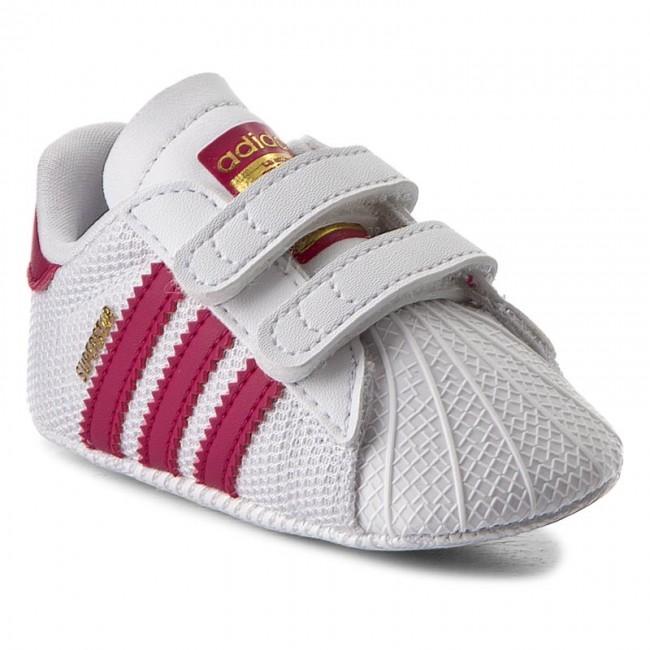 Zapatos adidas superstar cuna s79917 ftwwht / bopink / ftwwht velcro