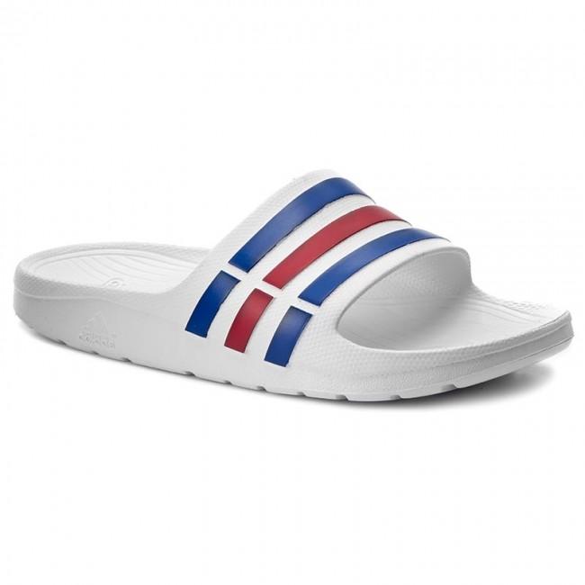 Slides adidas - Duramo Slide U43664 Wht Trublu Red - Casual mules ... 00c5e9affed