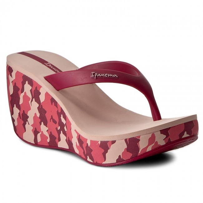 Slides IPANEMA  Lipstick Thing IV Fem 81706 PinkRed 41083  Flipflops  Mules and sandals  Womens shoes       0000199804632