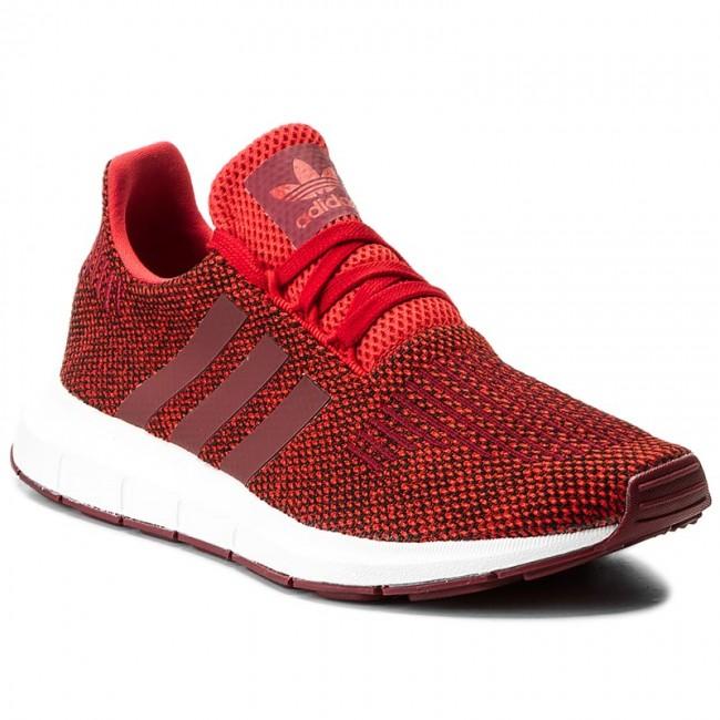 scarpe adidas swift run cg4117 rosso / cburgu / ftwwht scarpe basse