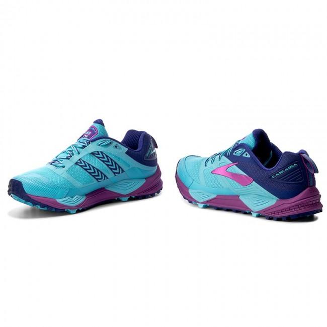 aa83ee24bce Shoes BROOKS - Cascadia 12 120233 1B 467 Bluefish Clematis Blue Purple  Cactus Flower