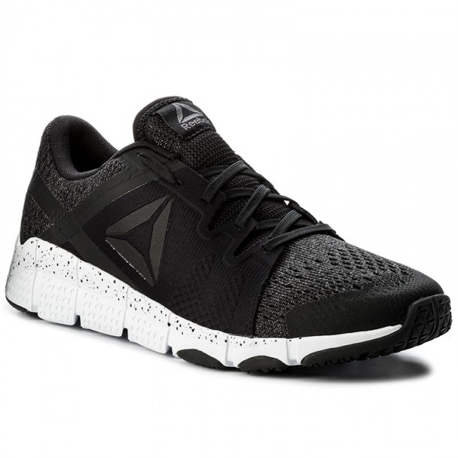 Reebok TRAINFLEX DTD - Sports shoes - black/white/ash grey vadRYWi3fq