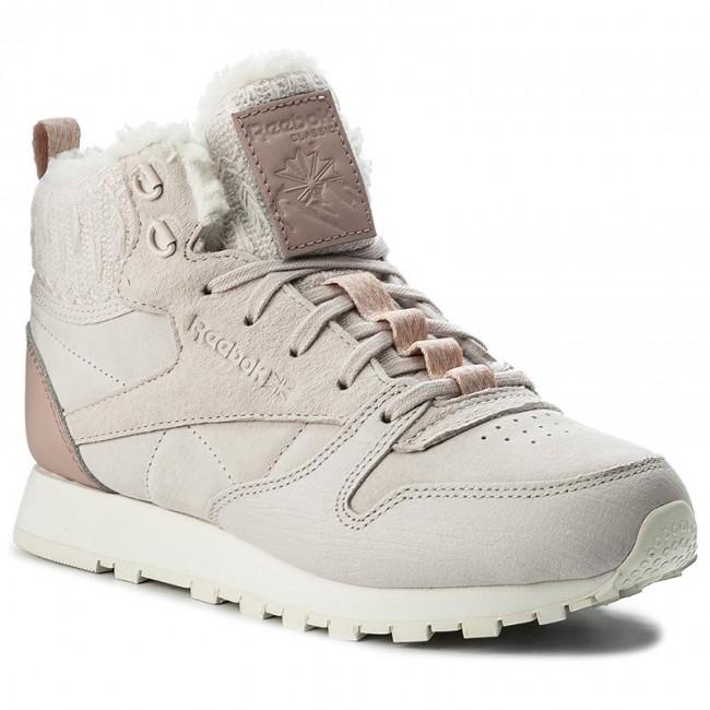Reebok Cl Cuir Botte Arctique Avec Sneaker Salut Schoenen Cendres Cendres Lilas Lilas VpL7G