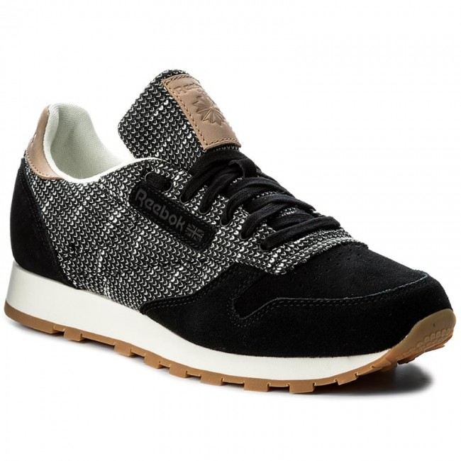 3e4df05193a Shoes Reebok - Cl Leather Ebk BS6236 Black Stark Gry Sand Stn ...